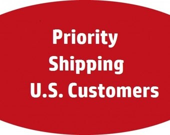 Priority Mail SHIPPING UPGRADE - US Customers Only - Please See Item Description