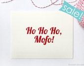 Christmas Cards On SALE! Ho Ho Ho. Holiday Cards. Christmas Card Set.