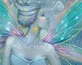 Fairy Fine Art Fantasy Archival Print by Molly Harrison 5 x 7 Starry Night