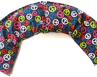 """Therapeutic  French Lavender Healing  Scented Pillow- """"Healing Hands"""" Peace sign"""