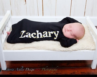 PERSONALIZED Baby BOYS GOWN... New baby--- your childs name