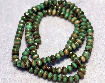 Seafoam Beige Lumi Swirl- crystal beads