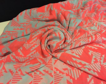 Polyester Chiffon  Fabric  2 Yards With Separate 1/2 Yard Remnant