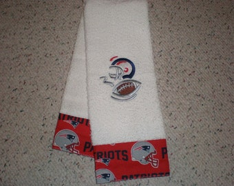 New England Patriots Terry Hand Towel