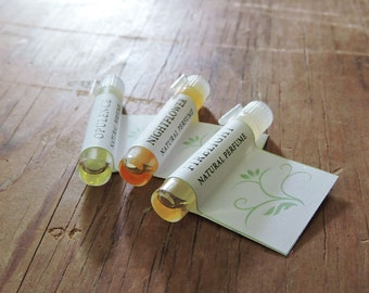 3 Perfume Sample Set - You choose 3 Natural Perfume Oil Samples