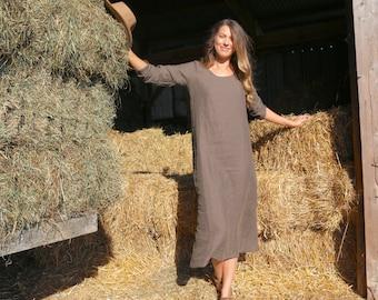 Organic Linen Maxi Dress