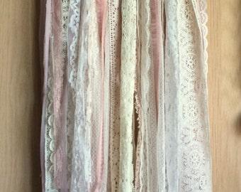 Bohemian Spirit Vintage Lace Trim Dreamcatcher