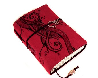 Handmade Leather Journal, Straight ahead, Painted Suede