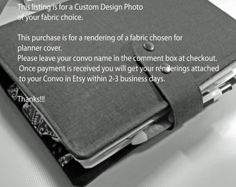 Design  custom rendering fabric change for  planner cover wallet  travelers notebook Fauxdori