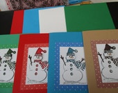 4 Pack snowmen Christmas cards