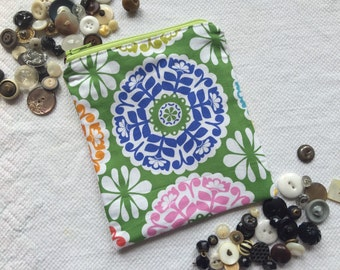 Springtime zippered pouch