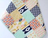 Baby Quilt Arizona Patchwork, Nursery Bedding, Southwestern, Nomad Desert , Aztec