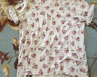 vintage floral print tshirt