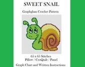 Sweet Snail - Graphghan Crochet Pattern - Pillow / Panel / CroQuilt