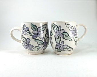 special: pair of flowered cups sold together