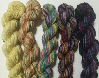 A Bit of Everything - 5 Koigu KPPPM sock yarn mini skeins