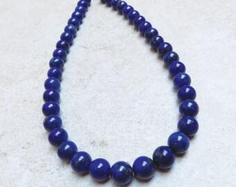 Lapis bead strand—Rich blue color