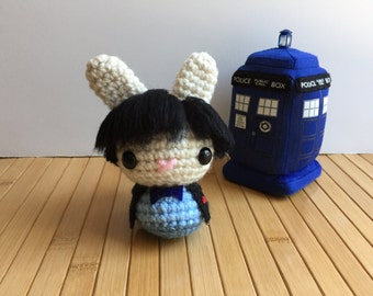 The Doctor Moon Bun - Second Doctor Amigurumi Bunny Rabbit - Patrick Troughton