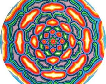 Cosmic Circle, Happiness, Flower Mandala, Bohemian, Sacred Geometry, Home & Car decor, Window Cling, Eco friendly Vinyl Sticker, Meditation