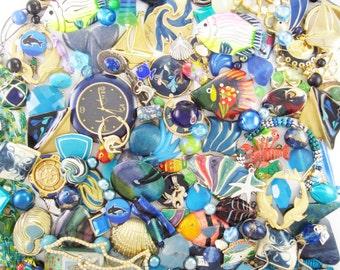 20% OFF - Craft Jewelry - Over 1 Pound of Jewelry - Oceana Blue