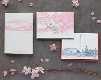 Washington D.C. - eight letterpress note cards
