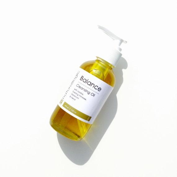 Organic Balancing Cleansing Oil. Geranium, Neroli, Borage. Oily, Combination, Acne Prone. Natural Organic Skin Care. Vegan.