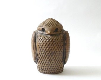 SUMMER SALE Modernist Ceramic Owl  Studio Pottery California Modern Mid Century 1960s