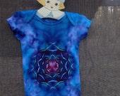Tie Dye Baby Bodysuit 12 M Lotus Hippie Child