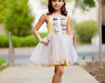 Girls Dress PDF Pattern 6month-8 Ma Chérie Instant Download