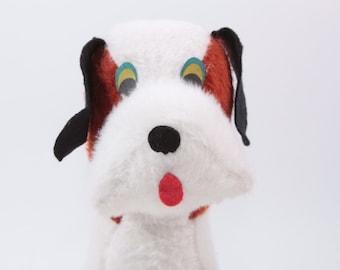 Vintage 1960s Machine Plush - Stuffed Animal - Saint Bernard Dog - St. Bernard