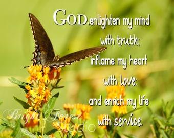 God enlighten my mind ~Photographic Print