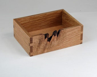 Desktop Organizer, Quarter Sawn Oak, Wooden Office Valet