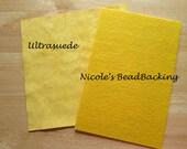 Nicole's BeadBacking Ultrasuede Yellow combo beading art supplies