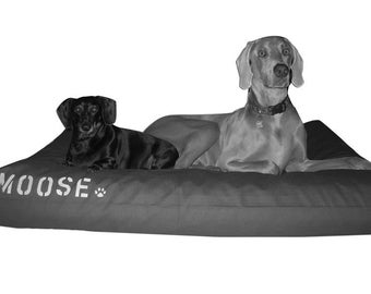 Flippable Dog Bed Cover for a 28W x 52L Standard Baby Crib Mattress, Color Block, Durable Canvas, Water Repellent, Personalization Extra