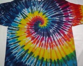 tie dye size 2XL Rainbow Spiral Shirt ready to ship