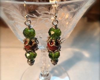 I'm Wild about it - Earrings  Crystal Jasper and Sterling silver on French Hooks