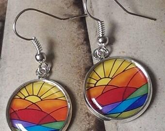 Art Deco........ Sun Rays Earrings