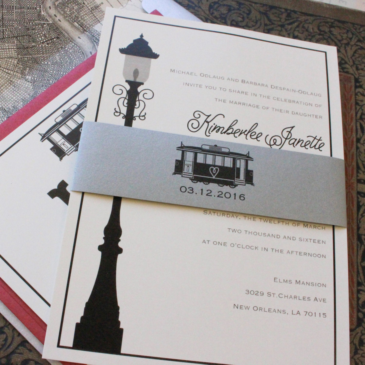 zoom - New Orleans Wedding Invitations