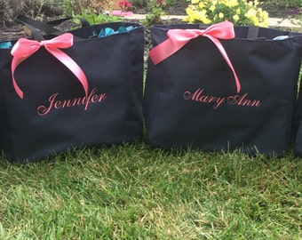 Bride Tote Bag Bridesmaid Personalized - Set of 4 - Bridal Party Gifts Favors