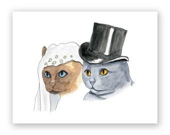 Cat Couple Wedding Card