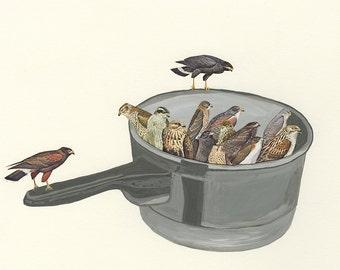 Kettle of hawks. Fine art print by Vivienne Strauss.
