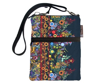 Kindle 4 Case / Kindle Fire Cover / Kindle Touch Bag / Nook Bag / Padded eReader Case / TRAVEL BAG fit WITH Cover- Happy Fabric