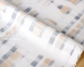Japanese Fabric rayon linen blend - abstract plaid - A - 50cm
