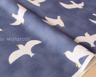 Japanese Fabric Kokka Trefle Birds double gauze - D - 50cm