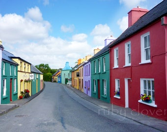 Eyeries, Co. CORK, Quaint village, Irish Decor, Rebel County, IRELAND Photo, Irish photography, small town photo, Colorful Shopfronts,Celtic