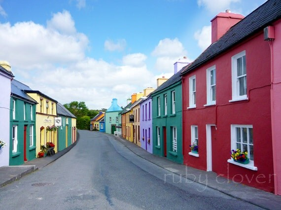 Eyeries, Co. CORK, Quaint village, Irish Decor, Rebel County, IRELAND Photo, Irish photography, small town photo, Colorful Shopfronts,Celtic