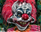"Print 8x10"" - Rudy - Killer Klowns From Outer Space Horror Comedy Dark Art Pop Lowbrow art Sci Fi Halloween Monster Circus Clowns Scary 80s"