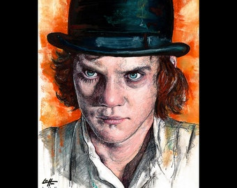 "Print 11x14"" - Alex - A Clockwork Orange Malcolm McDowell Stanley Kubrick Vintage Violence Gangs Murder Society British Punk Pop Art UK"