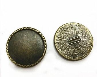 6pc 29mm antique bronze finish cabochon setting-8992D