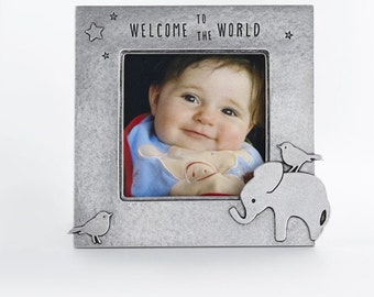 beehive elephant picture frame, baby shower gift, nursery decor, baby girl, baby boy